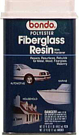 Bondo Fiberglass Resin 29 oz. For Repairs Resurfaces & Rebuilds Metal Wood Masonry & Fiberglass