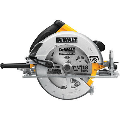 "7-1/4"" Lightweight circular saw w/ electric brake"