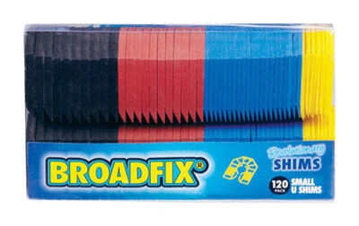 Broadfix Small U Shims 2.2 in. L x 1.8 in. W Plastic 120 pk