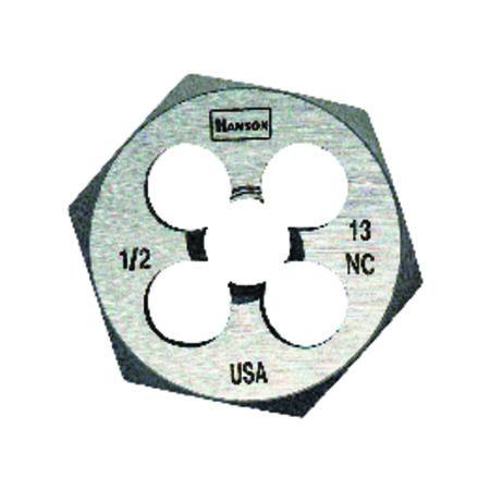 Irwin Hanson High Carbon Steel 1/2 in.-13NC SAE Hexagon Die 1 pc.