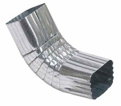 Amerimax 3 L x 3 in. W x 2 in. H x 2 in. H x 3 in. W A Gutter Elbow Galvanized Steel Metallic