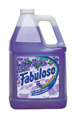Fabuloso Multi Purpose Cleaner Lavender Bottle 128 oz. For use on floors and walls in bathrooms and