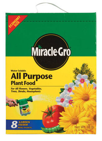 Miracle-Gro All Purpose Plant Food For Plants Flowers Vegetables 10 lb.