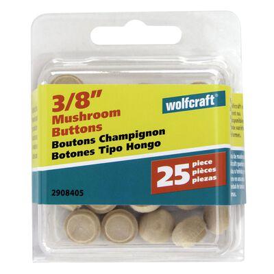 Wolfcraft Round Hardwood Button Plug 1/2 in. Dia.