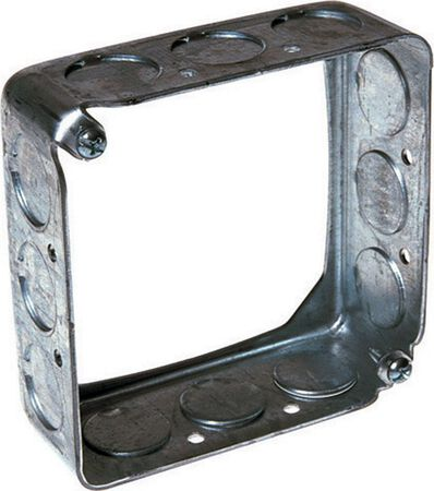 Raco 4 in. H Square Box Extension 1/2 in. Gray Steel