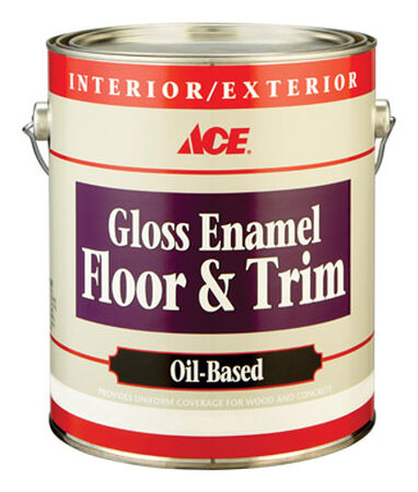 Ace Gloss Enamel Floor and Trim Paint 1 gal. Dark Gray
