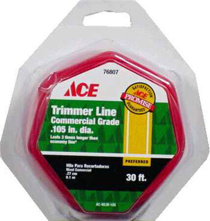Ace Commercial Trimmer Line 0.105 in. Dia. x 30 ft. L 2 refill