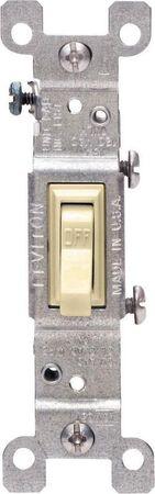 Leviton 15 amps Toggle Switch Single Pole 10 pk