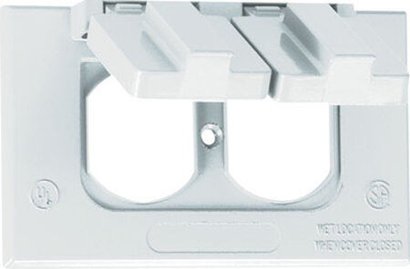 Sigma Rectangle Aluminum 1 gang Electrical Cover For 1 Duplex Receptacle White