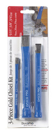 Dasco Pro 10.5 in. L High Carbon Steel Cold Chisel Kit 3 pc.