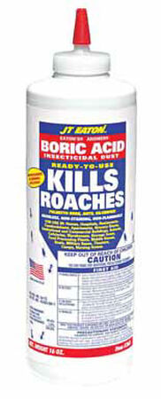 JT Eaton Answer Boric Acid KILLS Organic Insect Killer For Roaches Ants and Silverfish 16 oz.
