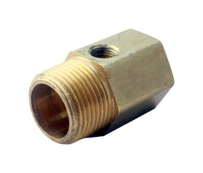 JMF 1/2 in. 1/2 in. Dia. Brass Pipe Adapter