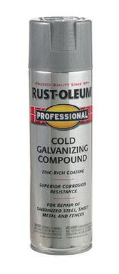 Rust-Oleum Professional Bright Gray Galvanized Galvanizing Compound Spray 20 oz.