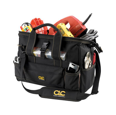 CLC Tote Bag with Plastic Tray 11 in. H x 16 in. L x 8 in. W 10 inside pockets 13 outside pockets