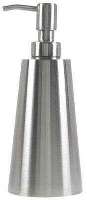Interdesign Nogu Soap Dispenser 7.8 in. H x 3.3 in. L x 3.3 in. W Silver Stainless steel Stainl