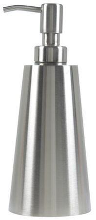 Interdesign Nogu Soap Dispenser 7.8 in. H x 3.3 in. L x 3.3 in. W Silver Stainless steel Stainl
