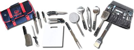 King Kooker 1660 16-Piece Stainless-Steel Tailgating Utensil Set With Carrying Case