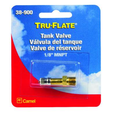 Tru-Flate Brass Tank Valve 1/8 in. MNPT Male