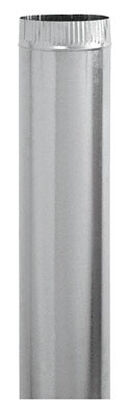 Imperial Manufacturing 4 in. Dia. x 24 in. L Galvanized Steel Steel Pipe Metallic