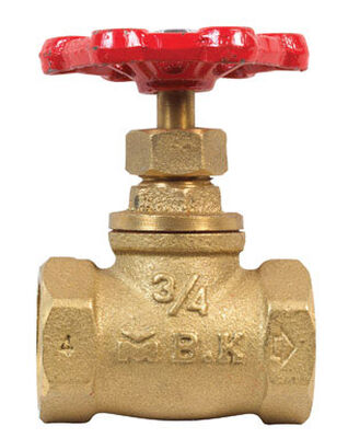 Mueller 3/4 in. x 3/4 in. Stop Valve Stop and Waste Brass