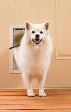 Petsafe Pet Door Medium For Pets up to 40 lb. 8-1/8 in. x 11-3/4 in. White Aluminum