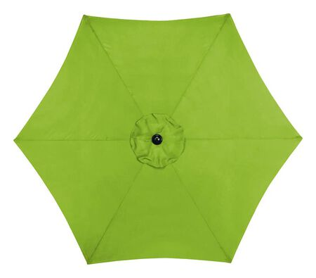 Living Accents 9 ft. Tiltable Sage MARKET Patio Umbrella