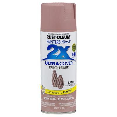 Rust-Oleum Painter's Touch 2X Vintage Blush Satin Spray Paint Plus Primer 12 oz.