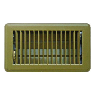 Tru Aire 4 in. H x 8 in. W Brown Steel Floor Register