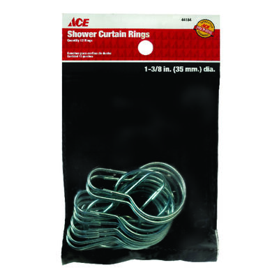 Ace Shower Curtain Rings Silver