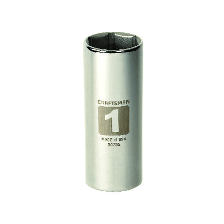 Craftsman 1 in. x 1/2 in. drive SAE 6 Point Deep Socket 1 pc.
