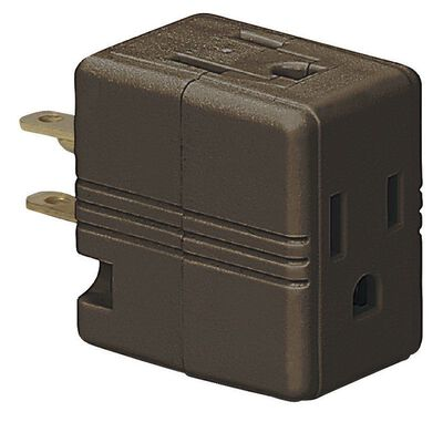 Ace Polarized Outlet Adapter Brown 15 amps 125 volts 1 pk