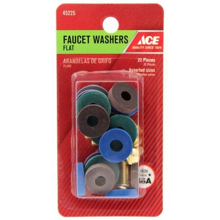 Ace Synthetic Rubber Flat Faucet Washer Assortment 20