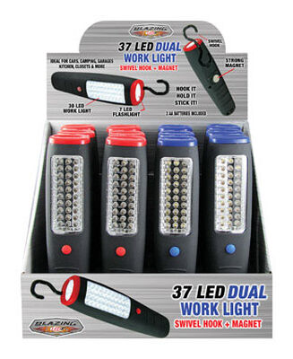 Blazing LEDz 37 LED Work Light LED AA Assorted