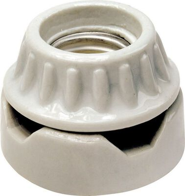 Leviton Surface Socket 250 volts 660 watts White