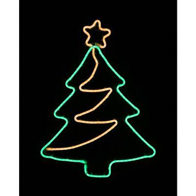 Star Bright LED Neon Christmas Tree Silhouette Green Metal/Plastic 1 pk
