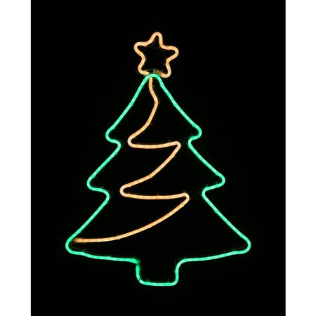 Star Bright LED Neon Christmas Tree Silhouette Green Metal/Plastic 1 pk