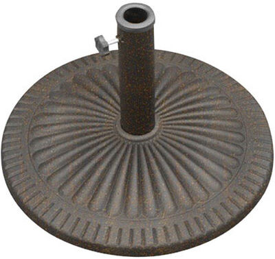 Bond Manufacturing Envirostone Umbrella Base 13.58 in. H x 21.5 in. W Bronze