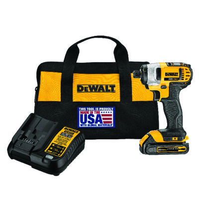 DeWalt 20 volts 1/4 in. Heavy Duty Cordless Compact Impact Driver
