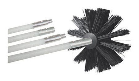 Deflect-O Jordan 8 ft. L Duct Cleaning Kit Silver/Black