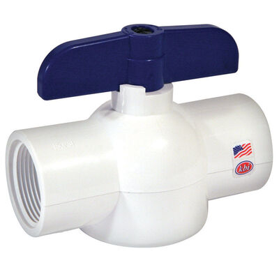 KBI King Brothers Ball Valve 1/2 in. FPT x 1/2 in. Dia. FPT PVC Economy