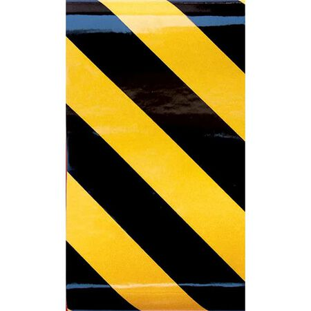 Hillman 24 in. Black/Yellow Reflective Safety Tape