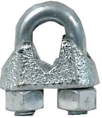 Campbell 0.25 in. Dia. Galvanized Malleable Iron Wire Rope Clip 10 pk