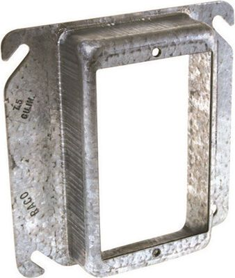 Raco Square Steel 1 gang Electrical Cover For Single Wiring Device Gray