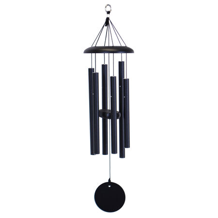 "Corinthian Bells, 27"" Black Windchime"