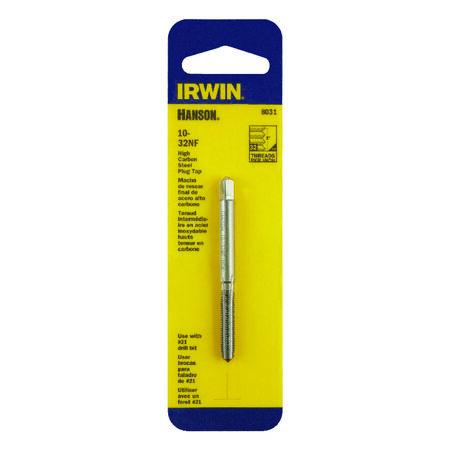 Irwin Hanson High Carbon Steel 10-32NF SAE Plug Tap 1