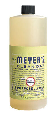 Mrs. Meyer's Clean Day Lemon Verbena Scent Multi-Surface Concentrate Cleaner 32 oz. Liquid For H