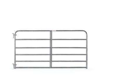 "8' 6-bar economy galvanized tube gate, 1 3/4"" 20 gauge Z-brace"
