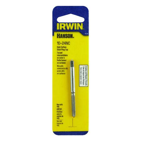 Irwin Hanson High Carbon Steel 10-24NC SAE Plug Tap 1 pc.