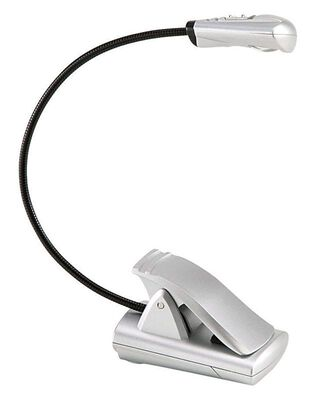 Fulcrum 12 in. H Adjustable Silver Mini Clip-On Lamp