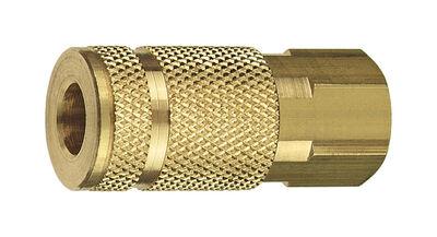 Tru-Flate Brass Air Coupler 1/4 in. FNPT Female A